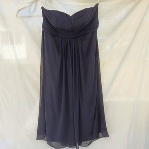 David's Bridal black strapless Plus Size gown 24